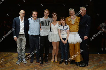 25 Billy Elliots United at 'Billy Elliot the Musical Live' at the Victoria Palace Theatre - Backstage Peter Darling Lee Hall (writer) Liam Mower Ruthie Henshall Elliott Hanna Deka Walmsley and Stephen Daldry