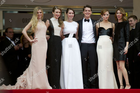 'The Bling Ring' Red Carpet at the Palais Des Festivals During the 66th Cannes Film Festival Claire Julien Taissa Fariga Katie Chang Israel Broussard and Emma Watson with Director Sofia Coppola