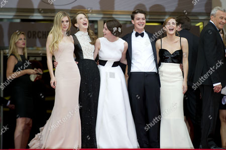'The Bling Ring' Red Carpet at the Palais Des Festivals During the 66th Cannes Film Festival Claire Julien Taissa Fariga Katie Chang Israel Broussard and Emma Watson