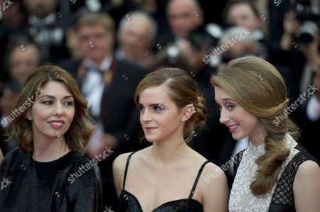 'The Bling Ring' Red Carpet at the Palais Des Festivals During the 66th Cannes Film Festival Sofia Coppola Emma Watson and Taissa Fariga