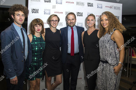 'Breeders' Press Night at St James Theatre Jemima Rooper with Her Boyfriend Ben Ockrent (writer) Tamara Harvey (director) Nicholas Burns Tamzin Outhwaite and Angela Griffin