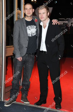 'Brighton Rock' European Premiere at the Odeon Westend Jamie Lester and Chris Bates (the Apprentice)