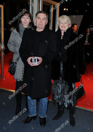 'Brighton Rock' European Premiere at the Odeon Westend Maurice Roeves with His Wife and Daughter