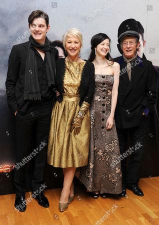 'Brighton Rock' European Premiere at the Odeon Westend Sam Riley Helen Mirren Andrea Riseborough and John Hurt