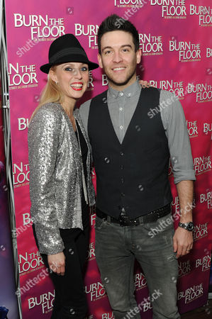 'Burn the Floor' Press Night Afterparty at the Trafalgar Hotel Kevin Sacre with His Wife Camilla Dallerup