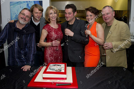 'Charley's Aunt' Press Night After Party at Menier Chocolate Factory London Bridge Cast : Norman Pace Jane Asher (who Baked the Cake) Mathew Horne Charlie Clemmow and Ian Talbot