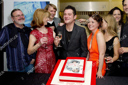 'Charley's Aunt' Press Night After Party at Menier Chocolate Factory London Bridge Cast : Norman Pace Jane Asher (who Baked the Cake) Benjamin Askew Director Ian Talbot Mathew Horne and Charlie Clemmow