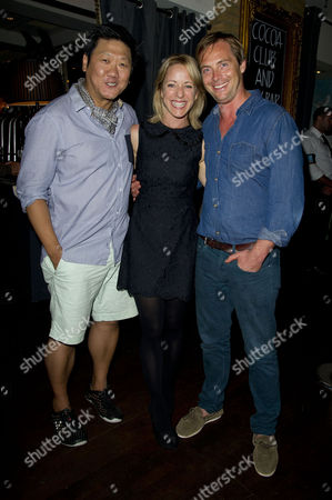 'Chimerica' Press Night at the Harold Pinter Theatre and After Party at Grace Great Windmill Street Benedict Wong Claudie Blakley and Stephen Campbell Moore