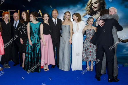 'Cinderella' Uk Premiere at the Odeon Leicester Square Sandy Powell David Barron Hayley Atwell Helena Bonham Carter Sophie Mcshera Kenneth Branagh Lily James Holliday Grainger Allison Shearmur (producer) Richard Madden Derek Jacobi