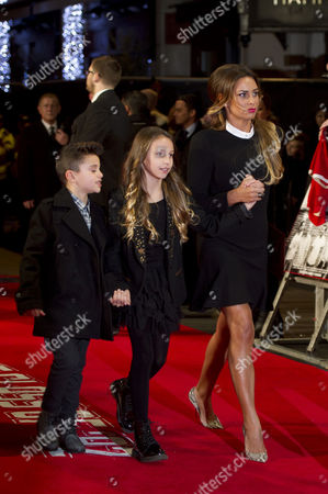 'Class of '92' World Premiere at the Odeon Westend Ryan Giggs' Wife Stacey Cooke with Her Children