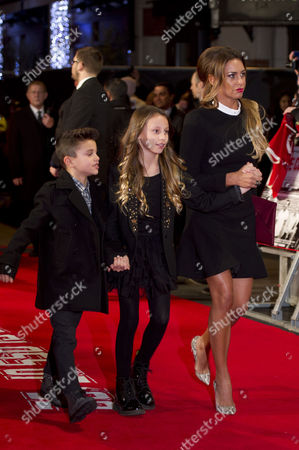 Stock Photo of 'Class of '92' World Premiere at the Odeon Westend Ryan Giggs' Wife Stacey Cooke with Her Children