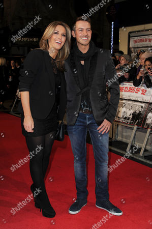Stock Image of 'Class of '92' World Premiere at the Odeon Westend Ashley Taylor Dawson with His Girlfriend Karen Mckay