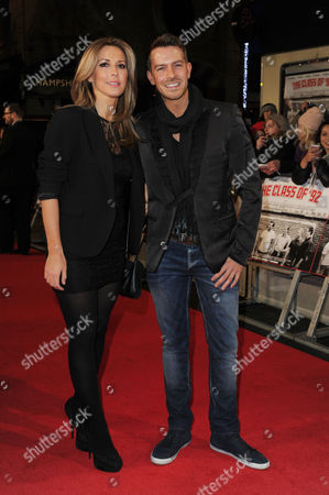 Stock Photo of 'Class of '92' World Premiere at the Odeon Westend Ashley Taylor Dawson with His Girlfriend Karen Mckay
