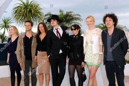 'Confession of A Child of the Century' Photocall at Palais Des Festivals During the 65th Cannes Film Festival Karole Rocher Pete Doherty Sylvie Verheyde (director) and Lily Cole
