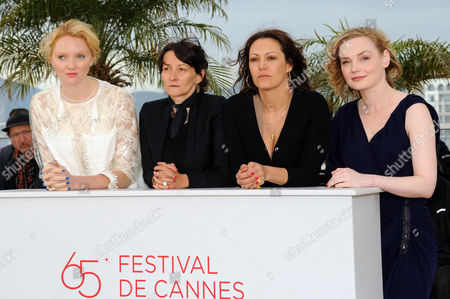 'Confession of A Child of the Century' Photocall at Palais Des Festivals During the 65th Cannes Film Festival Lily Cole Sylvie Verheyde (director) and Karole Rocher