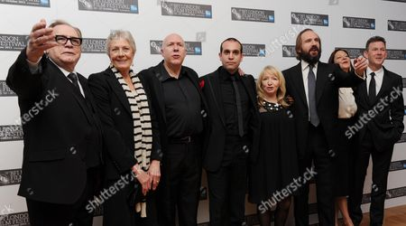 Stock Picture of 'Coriolanus' Red Carpet During the 55th Bfi London Film Festival at the Odeon Westend Brian Cox Vanessa Redgrave Colin Vaines Ilan Eshkeri Julia Taylor Stanley Ralph Fiennes Gaby Tana and John Logan