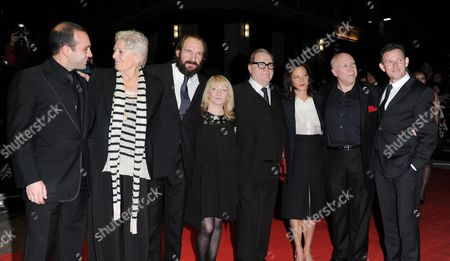 Stock Photo of 'Coriolanus' Red Carpet During the 55th Bfi London Film Festival at the Odeon Westend Ilan Eshkeri Vanessa Redgrave Ralph Fiennes Julia Taylor Stanley Brian Cox Gaby Tana Colin Vaines and John Logan