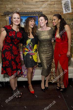 'Cuban Fury' World Premiere Afterparty at Floridita Wardour Street Producer Nira Park with Rashida Jones Olivia Colman with Yanet Fuentes