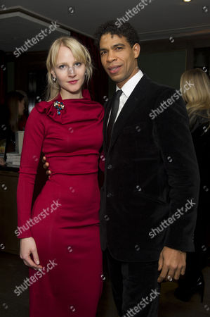 Stock Picture of 'Day of the Flowers' Premiere Afterparty at the Mayfair Hotel Carlos Acosta with His Girlfriend Charlotte Holland