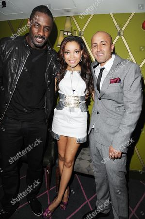 'Demons Never Die' Uk Premiere Afterparty at the Pigalle Club Piccadilly Executive Producer Idris Elba Dionne Bromfield and Director Arjun Rose