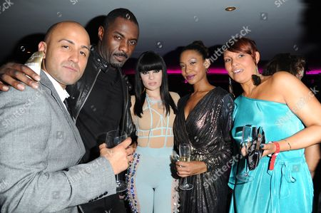 'Demons Never Die' Uk Premiere Afterparty at the Pigalle Club Piccadilly Director Arjun Rose Executive Producer Idris Elba Jessie J and Shanika Warren-markland with Her Mother