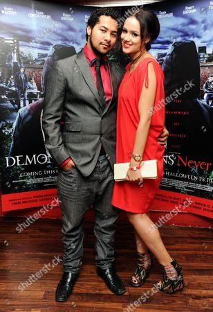 'Demons Never Die' Uk Premiere at Odeon Westend Devon Anderson and Nathalie Emmanuel