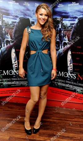 Stock Image of 'Demons Never Die' Uk Premiere at Odeon Westend Montana Manning Gabrielle Ryan