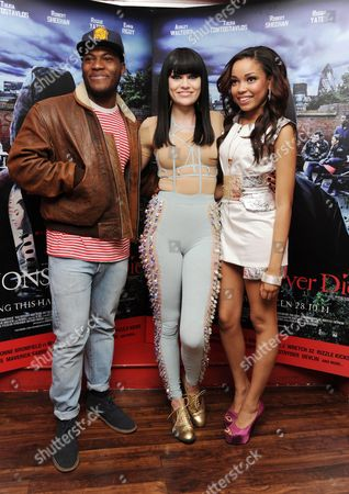 'Demons Never Die' Uk Premiere at Odeon Westend Josh Osho Jessie J and Dionne Bromfield (all Under the Exile Record Label Island)
