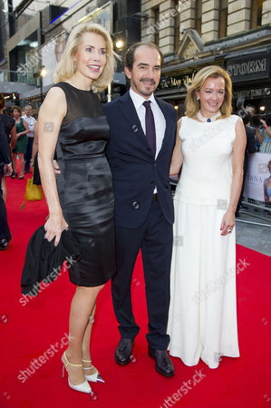 Stock Image of 'Diana' World Premiere at the Odeon Leicester Square.  Guest and Caroline Scheufele