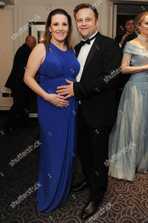 'Dirty Rotten Scoundrels' Press Night After Party at the Savoy Hotel Sam Bailey with Her Husband Craig Pearson