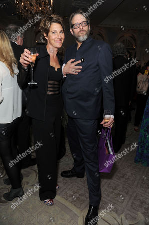 'Dirty Rotten Scoundrels' Press Night After Party at the Savoy Hotel Tamsin Greig with Her Husband Richard Leaf