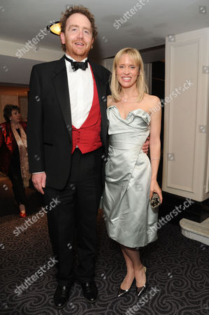 'Dirty Rotten Scoundrels' Press Night After Party at the Savoy Hotel Adam Speers with His Wife Beth Cordingly