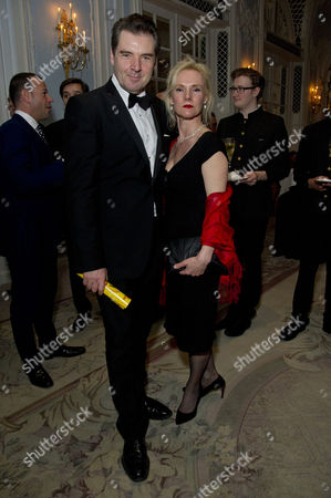 'Dirty Rotten Scoundrels' Press Night After Party at the Savoy Hotel Brendan Coyle with His Partner Joy Harrison