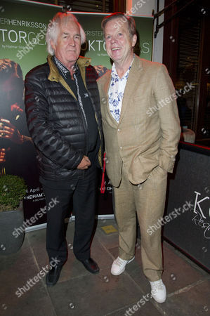 'Doktor Glas' Press Night at Wyndhams Theatre and After Party at Cafe Koha Henning Mankell (author Wallander) and Krister Henriksson