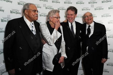 'Driving Miss Daisy' Press Night Afterparty at the Rac Club Pall Mall James Earl Jones Vanessa Redgrave and Boyd Gaines with Alfred Uhry