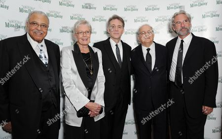 'Driving Miss Daisy' Press Night Afterparty at the Rac Club Pall Mall James Earl Jones Vanessa Redgrave and Boyd Gaines with Alfred Uhry and Director David Esbjornson