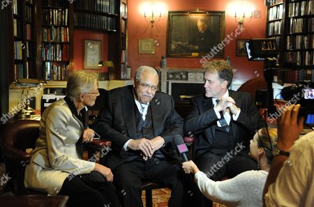 'Driving Miss Daisy' Press Night Afterparty at the Rac Club Pall Mall Vanessa Redgrave James Earl Jones and Boyd Gaines During Interviews