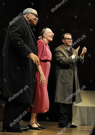 'Driving Miss Daisy' Press Night at Wyndhams Theatre Curtain Call - James Earl Jones Vanessa Redgrave and Boyd Gaines