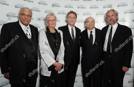 Stock Photo of 'Driving Miss Daisy' Press Night Afterparty at the Rac Club Pall Mall James Earl Jones Vanessa Redgrave and Boyd Gaines with Alfred Uhry and Director David Esbjornson