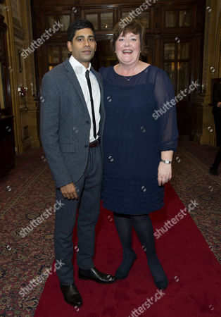 'East is East' Press Night Afterparty at Royal Horseguards Hotel Whitehall Darren Kuppan and Sally Bankes