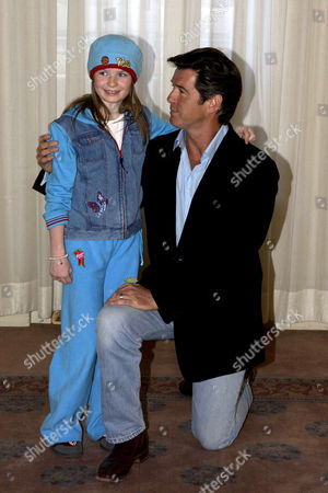 'Evelyn' Photocall at Claridges Hotel Pierce Brosnan and Sophie Vavasseur