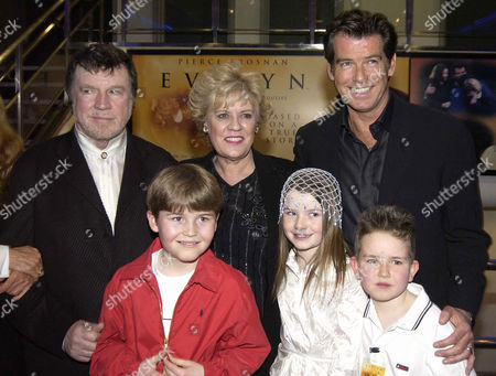 'Evelyn' Uk Premiere at the Odeon Westend Alan Bates Evelyn Doyle and Pierce Brosnan with Sophie Vavasseur Naill Beagan and Hugh Mcdonagh