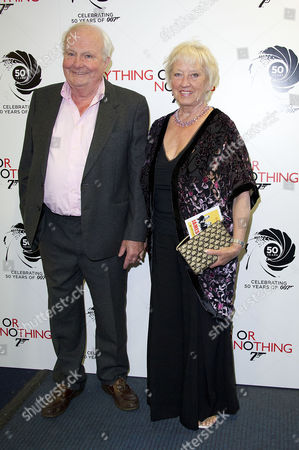 'Everything Or Nothing - the Untold Story of 007' Screening at the Odeon Westend Shane Rimmer with His Wife