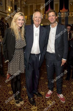 'Evita' Press Night at the Dominion Theatre Tottenham Court Road Tim Rice with His Daughter Eva Rice and Son Donald Rice