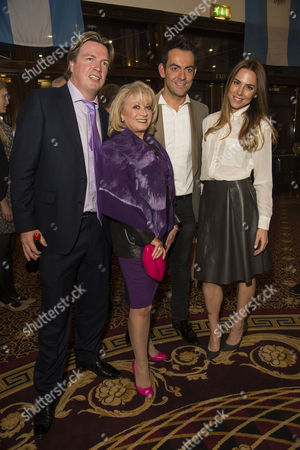 'Evita' Press Night at the Dominion Theatre Tottenham Court Road Elaine Paige and Justin Mallinson with Ben Forster and Melanie Chisholm