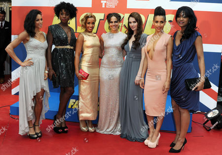 'Fast Girls' World Premiere at the Odeon Westend Hannah Frankson Lashana Lynch Lorraine Burroughs Leonora Crichlow Lily James Dominique Tipper and Tiana Benjamin