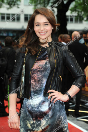 Stock Photo of 'Fast Girls' World Premiere at the Odeon Westend Emelia Clarke
