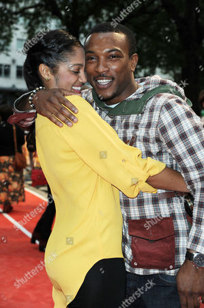 'Fast Girls' World Premiere at the Odeon Westend Ashley Walters with His Girlfriend Natalie Williams