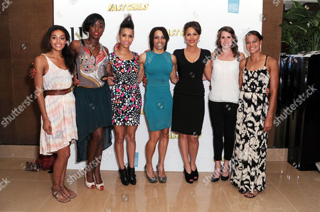 'Fast Girls' Screening at the Mayfair Hotel Adelle Tracey Lashana Lynch Dominique Tipper Dame Kelly Holmes Lenora Crichlow Charlotte Best and Tara Bird
