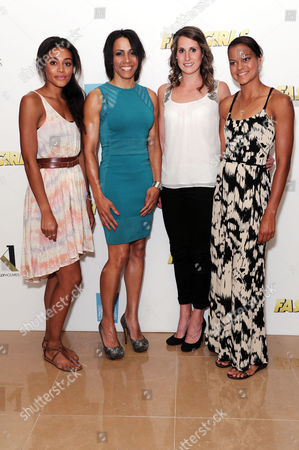 'Fast Girls' Screening at the Mayfair Hotel Adelle Tracey Dame Kelly Holmes Charlotte Best and Tara Bird (athletes From the Aviva 'On Camp with Kelly' Program)
